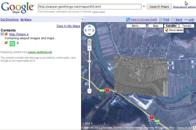 warper in google maps