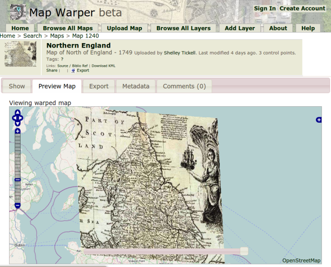 mapwarper.net georectify maps georeferencing fun!